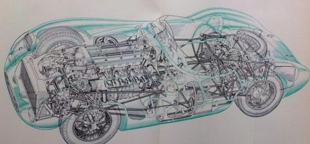 Aston DBR 1 Allington cutaway