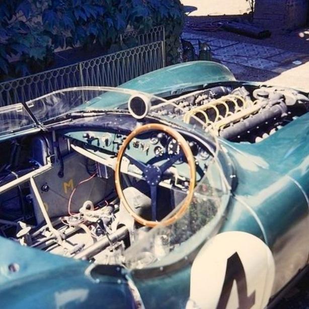 Aston DBR1 300 cockpit Le Mans 1959