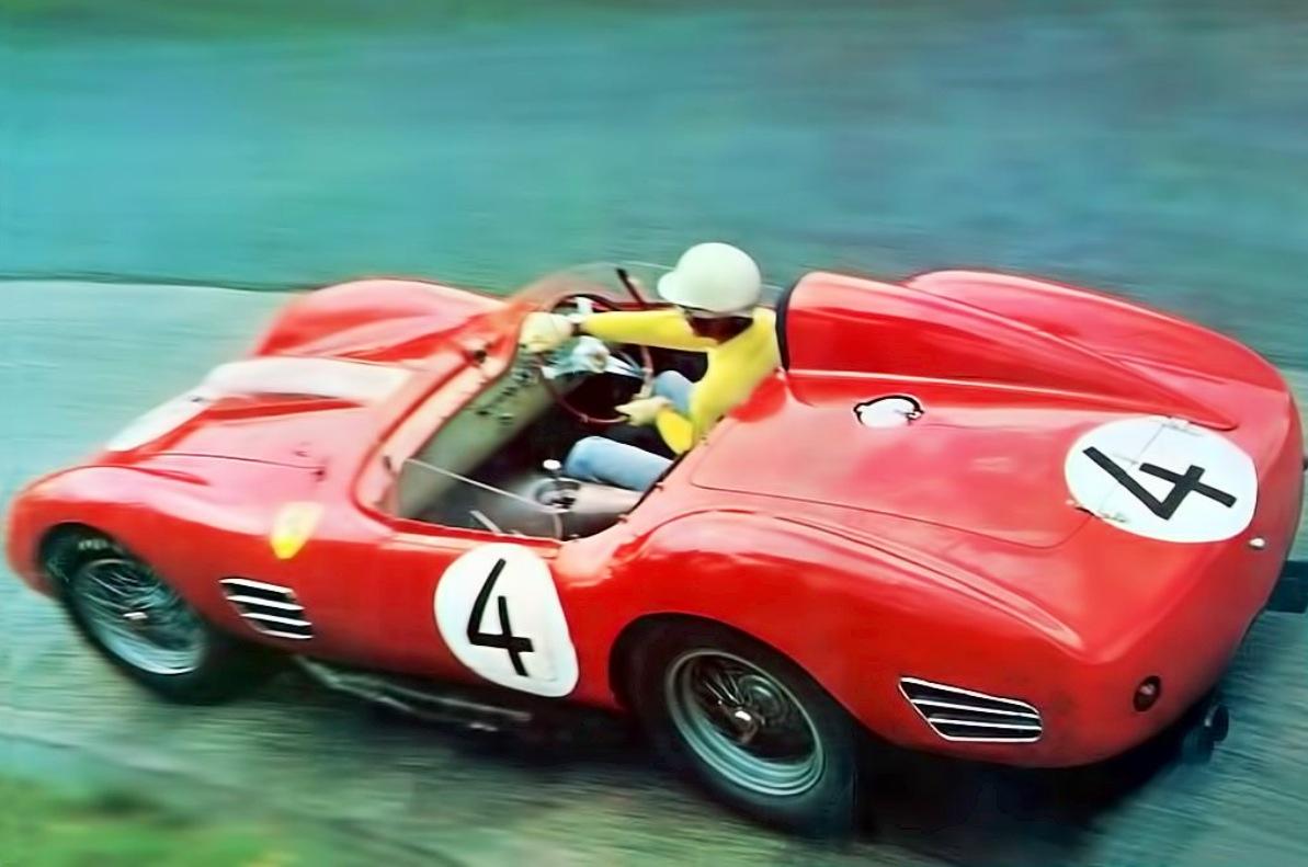 Ferrari 250 testa rossa primotipo olivier 2 olivier gendebien in the ferrari 250 testa rossa vanachro Gallery