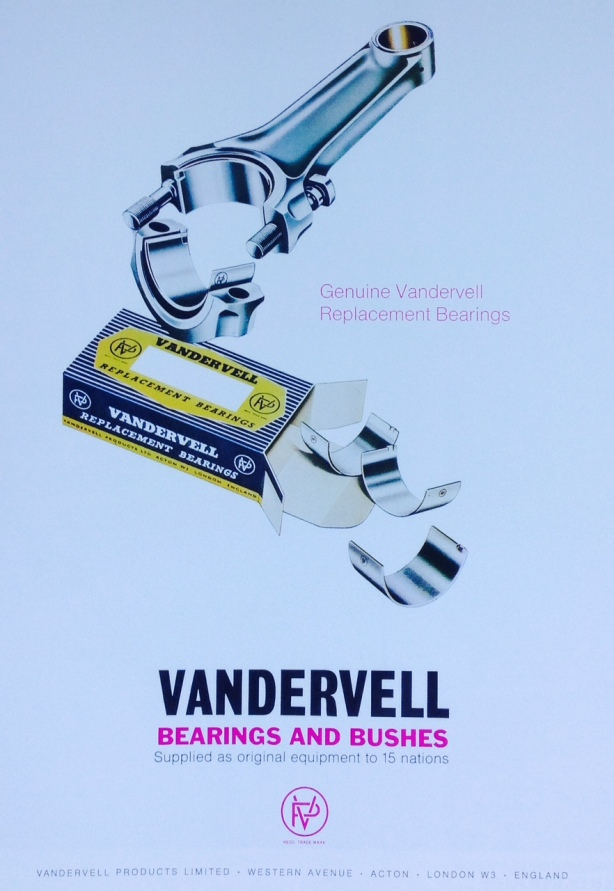 Vandervell bearings ad