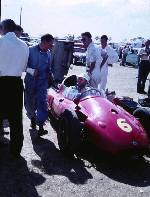 Bib Stillwell Cooper T51 Climax Longford paddock 1960
