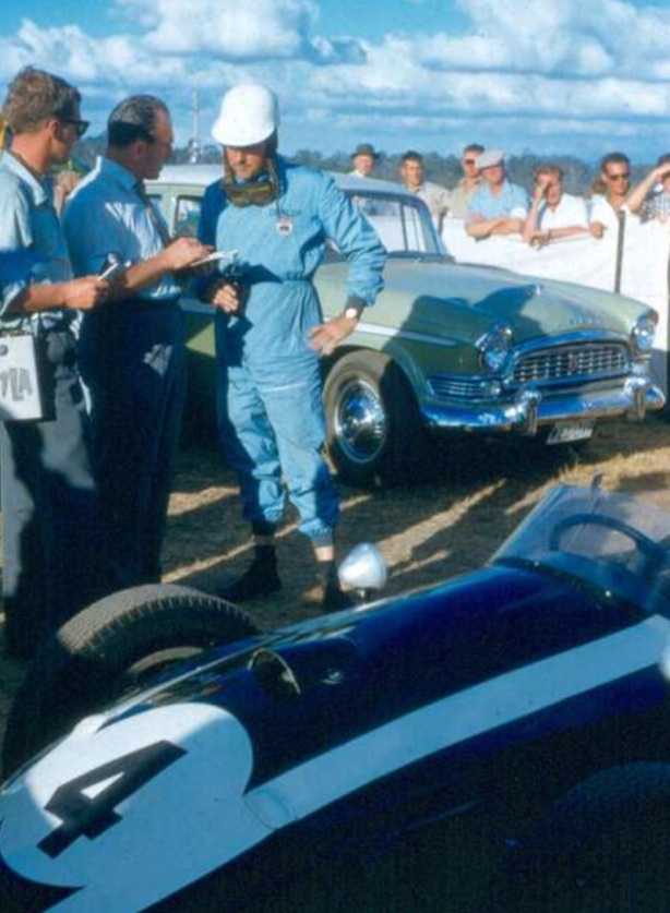 Brabham Longford media interview 1960