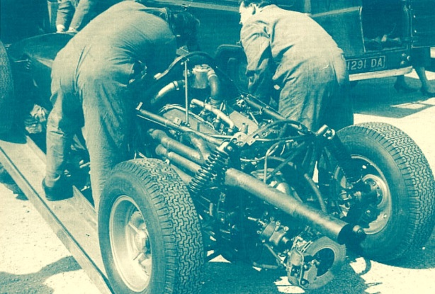 BRM P48 engine and rear suspension