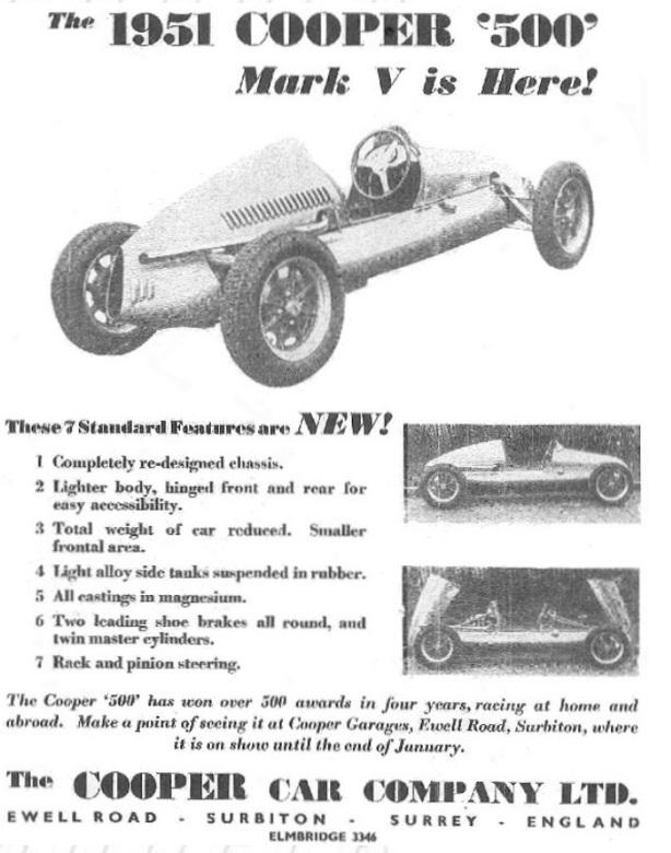 Cooper Mk5 sales ad