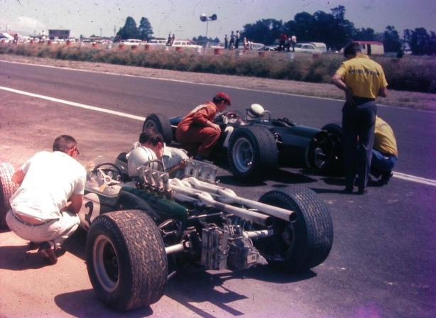 Denny Hulme and Jackie Stewart, Levin NZ Tasman 1967 (Digby Paape)