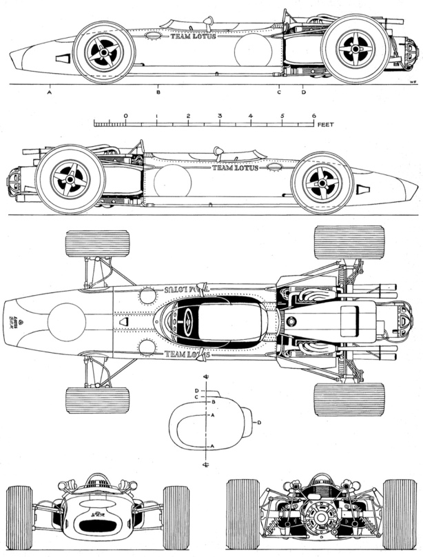 Lotus 43 BRM drawings