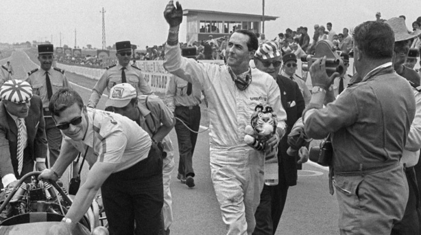 Brabham after Rheims victory 1966