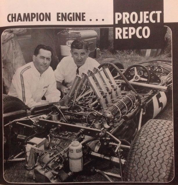 Brabham and Frank Hallam, Sandown 1966