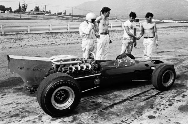 Bruce McLaren, McLaren M2A Ford Indy, Riverside 1966