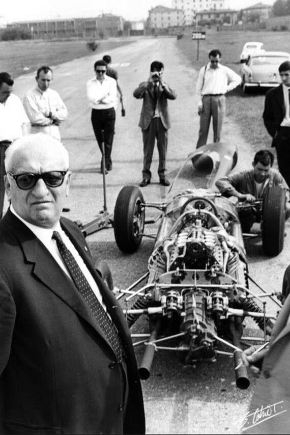 Enzo, Surtees and Ferrari 158 Modena