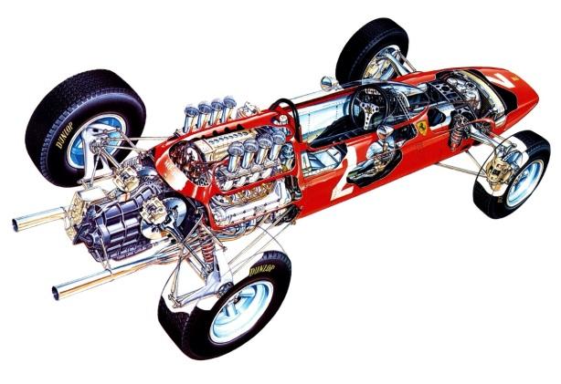 Ferrari 158 cutaway
