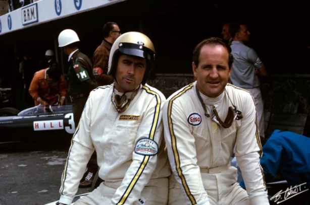Jack Brabham and Denny Hulme , Mexican GP 1966