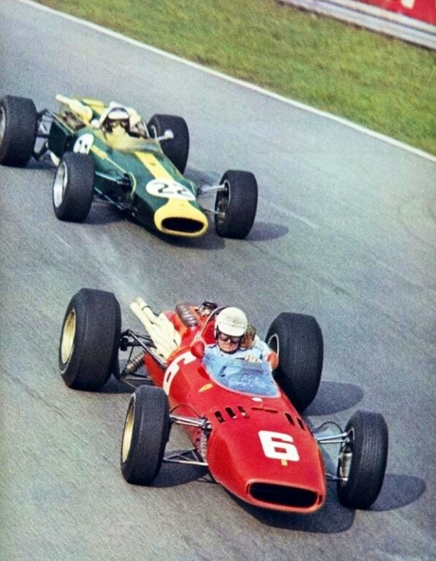 Scarfiotti and Clark Italian GP 1966