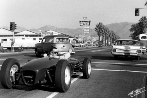 Surtees on the road Riverside 1960