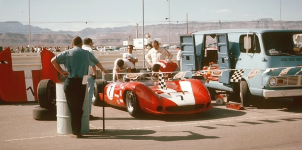 Surtees pits Can Am 1966