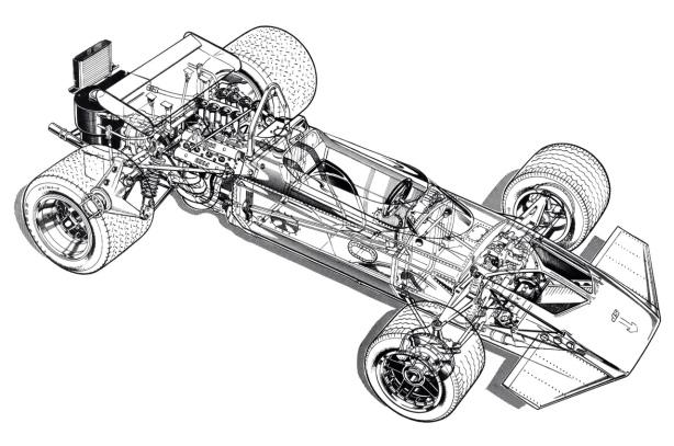 Surtees TS7 Ford cutaway drawing