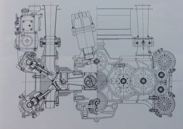 917 engine cross section