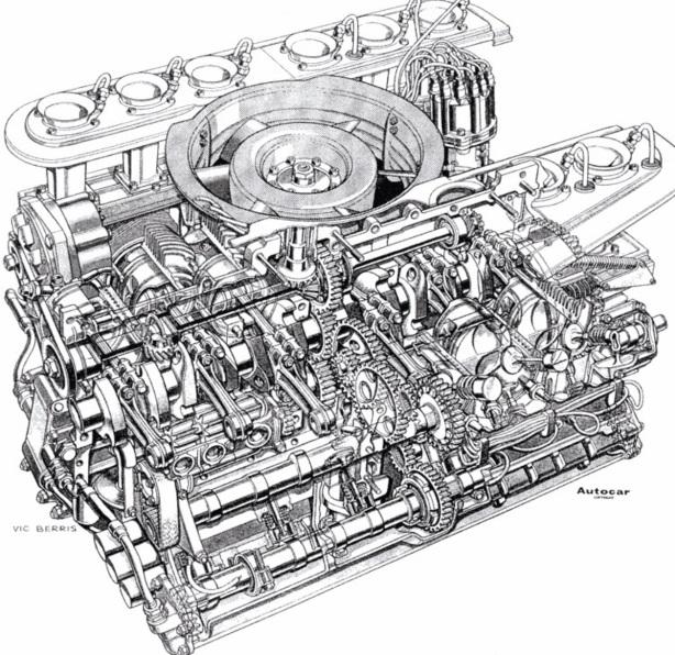917 engine cutaway