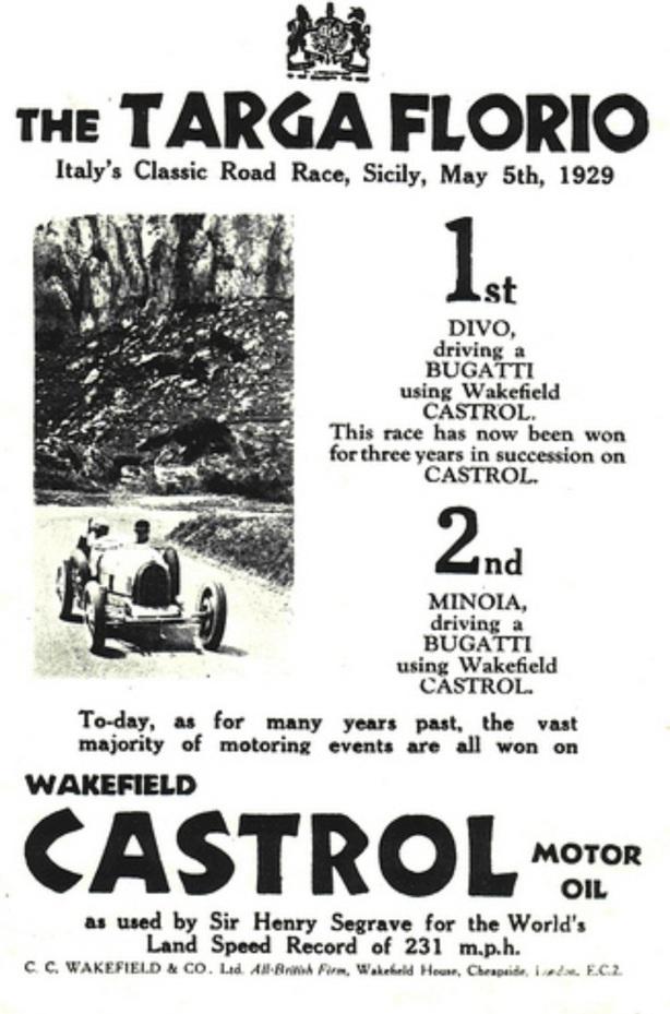 Castrol Targa '29 ad