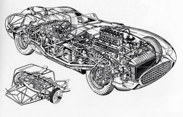 Ferrari 335S cutaway