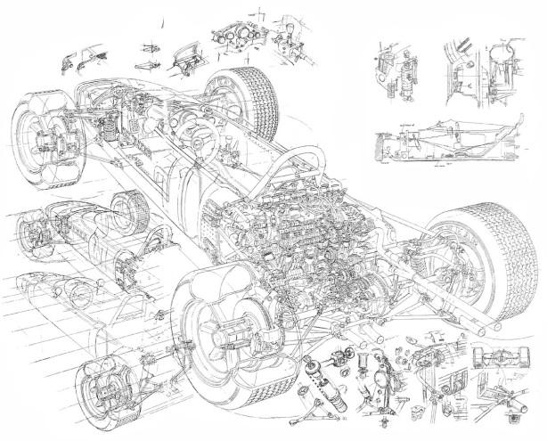 Honda RA272 cutaway