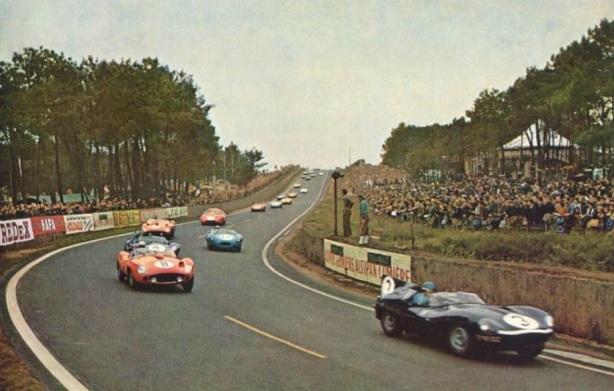 Le Mans 1957 lap 1
