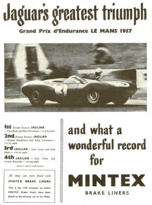 Mintex 57 Le Mans ad