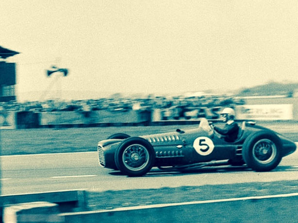 Ron Flockhart BRM Goodwood 1954
