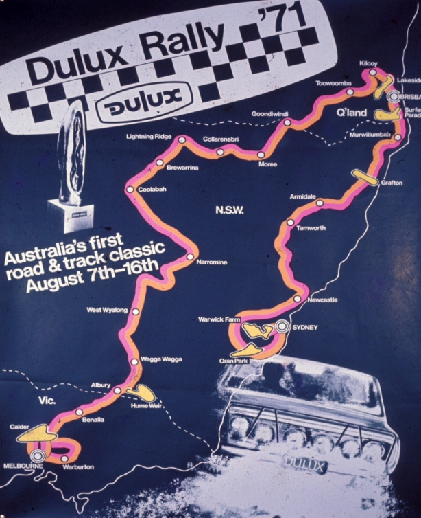 dulux rally route