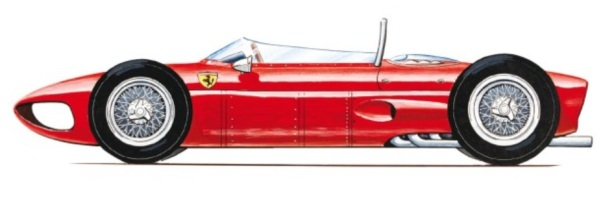 ferrari 156 drawing