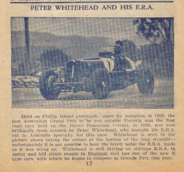 1948 Bathurst programme ERA