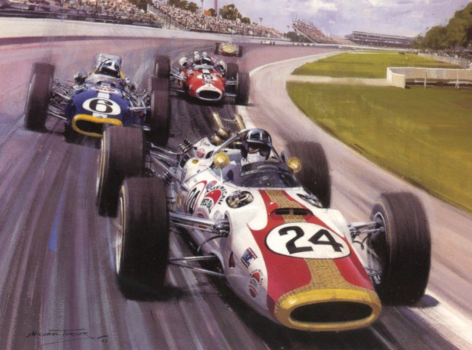 Graham Hill\'s \'American Red Ball Spl\' Lola T90 Ford: Indy Winner ...