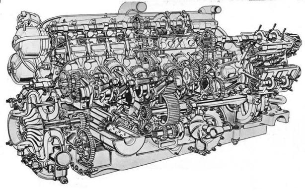 brm engine cutaway
