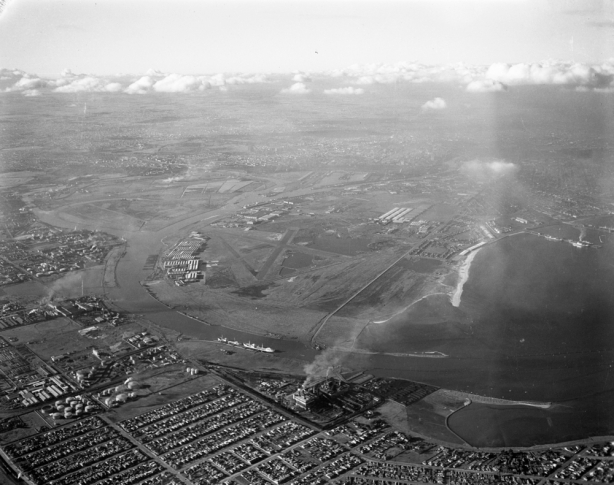 aerial with airfield