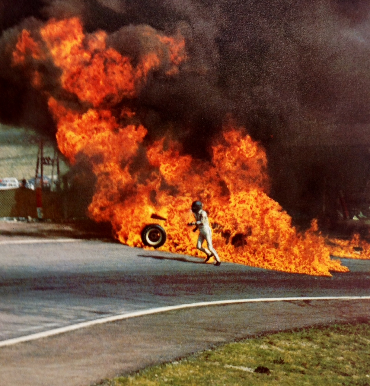 Image result for jacky ickx and jackie oliver fiery crash f1