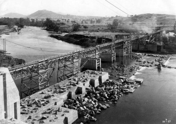 dam wall 1927