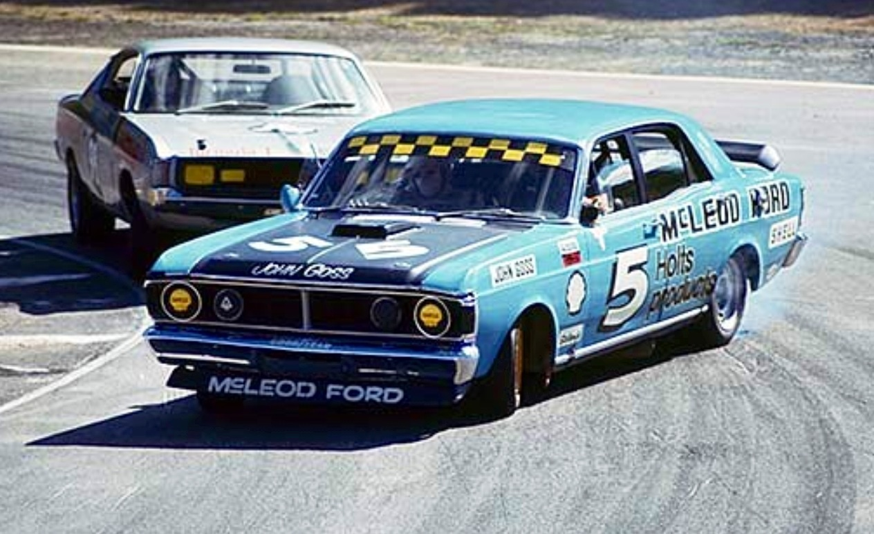 Goss In The Mcleod Ford Falcon Gtho Ph At Amaroo Park  Oldracephotos Com