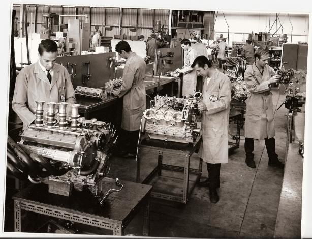 Assembling Repco Brabham engine