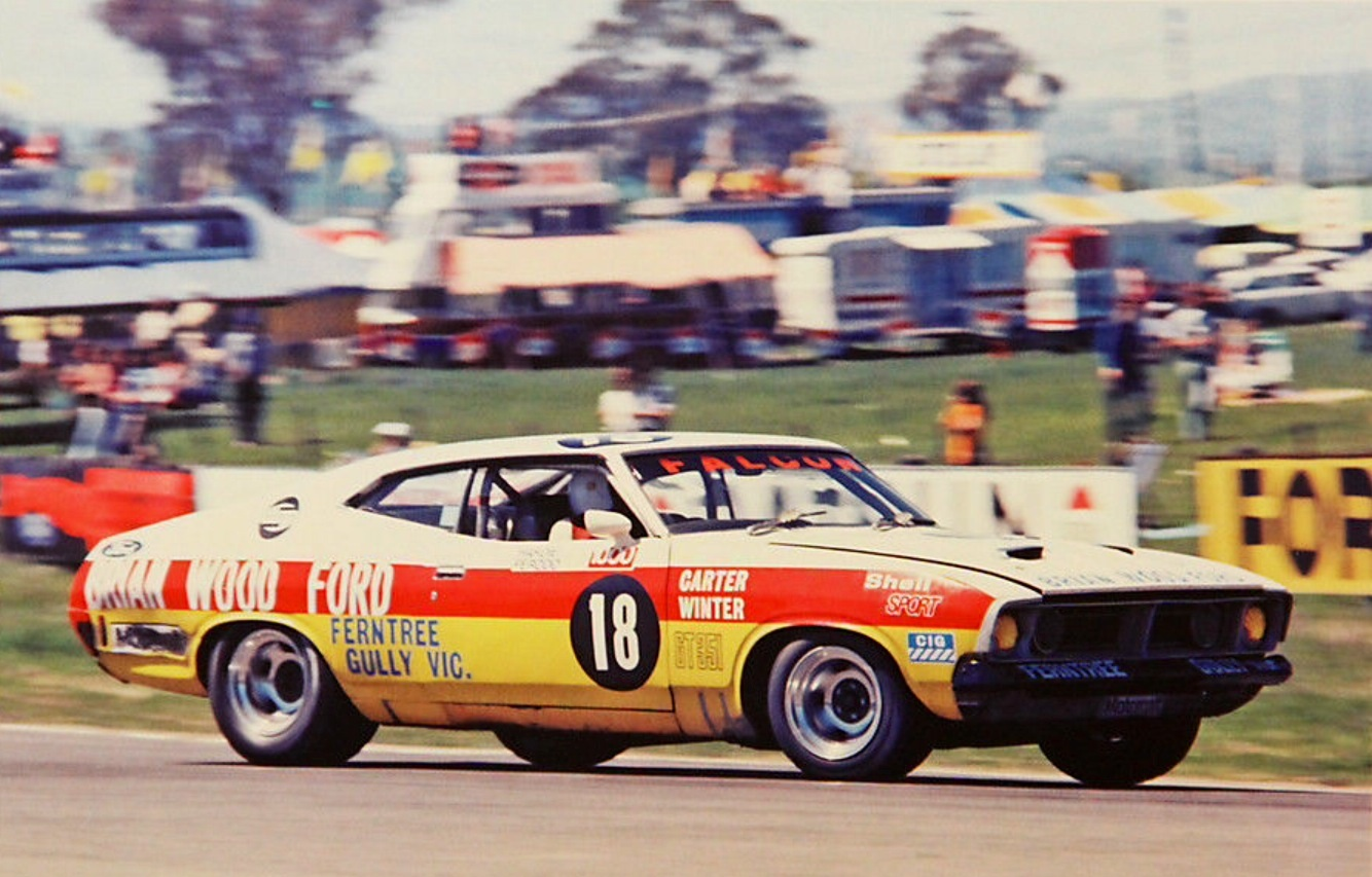 Ford Falcon Gtho Primotipo 1970 Gt 351 Carter Pictured In His Xb Gt351 Hardtop Coupe At Hell Corner Bathurst 1975 He Was 2nd The Atcc That Year This Car Title Won By