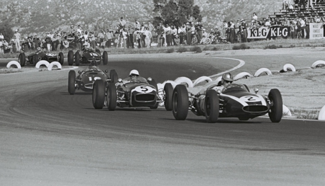 The Class Of 1960  Cooper T53, Lotus 18 And BRM P48  Brabham, Moss And  Gurney U0027486u0027, Then Bonnier U0027484u0027 And Innes Ireland Lotus 18 In The Early  Laps Of The ...